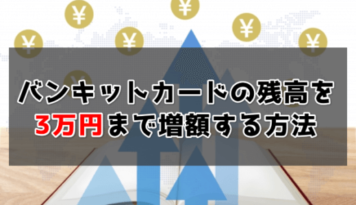 バンキットカード(BANKIT)を3万円に増額する方法 | おたすけチャージを即日で増やす裏技